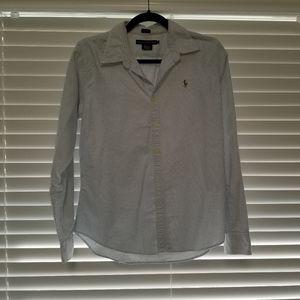 Ralph Lauren Dress Shirt Blue stripe